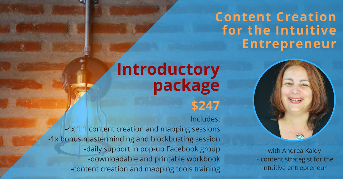 intuitive content creation into package